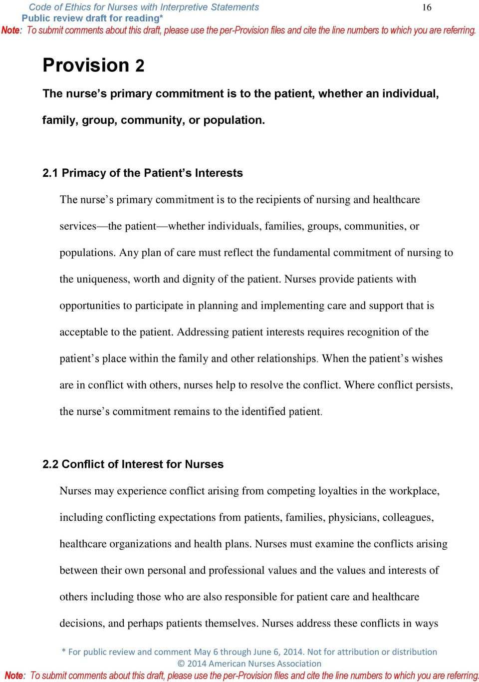 personal and professional values in nursing