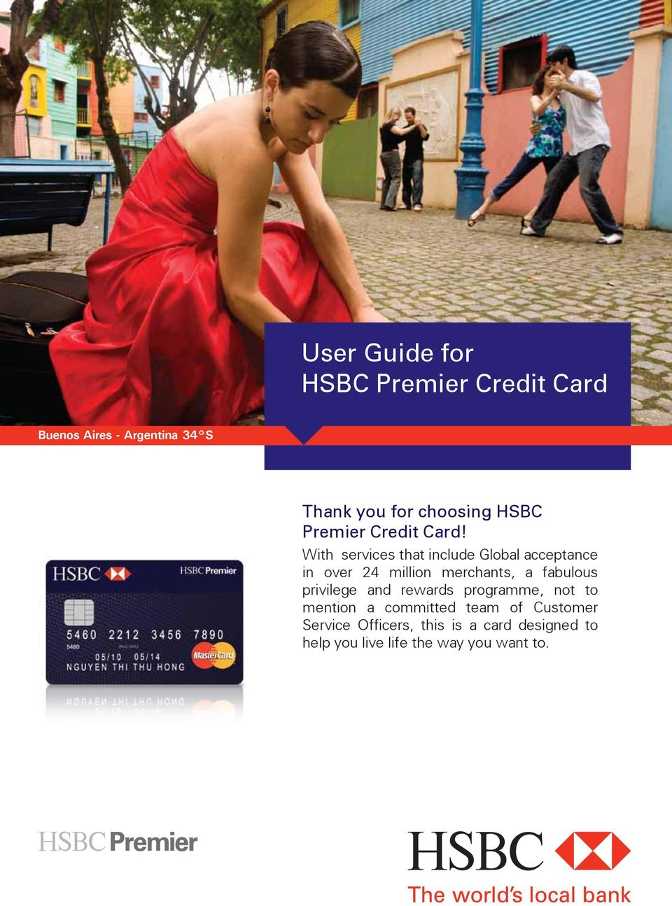 User Guide for HSBC Premier Credit Card - PDF