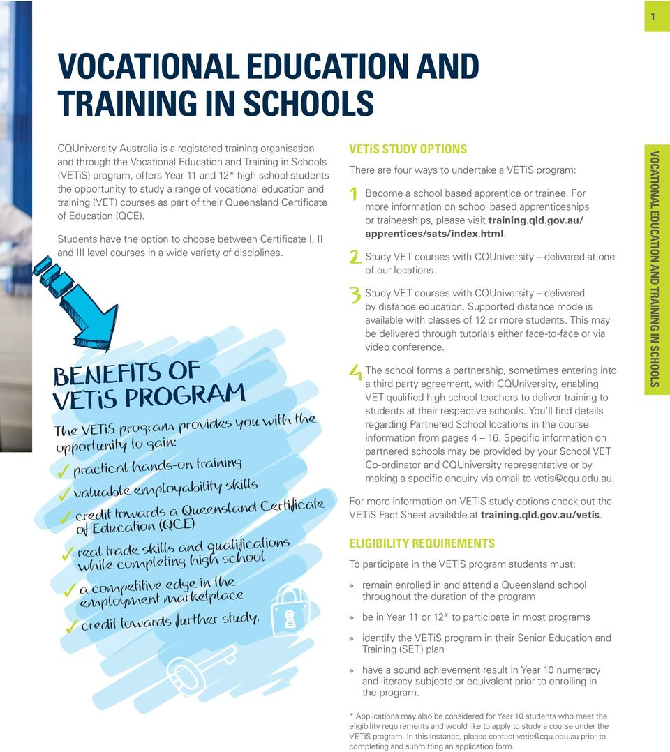 2017 COURSE GUIDE VOCATIONAL EDUCATION AND TRAINING IN