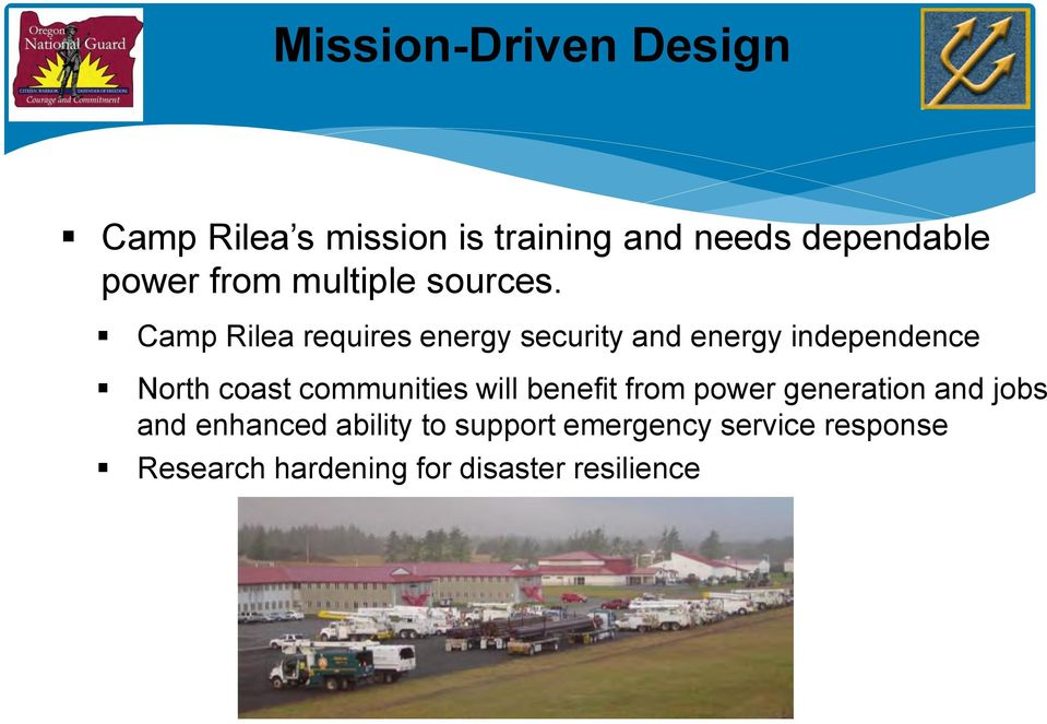 Camp Rilea requires energy security and energy independence North coast communities