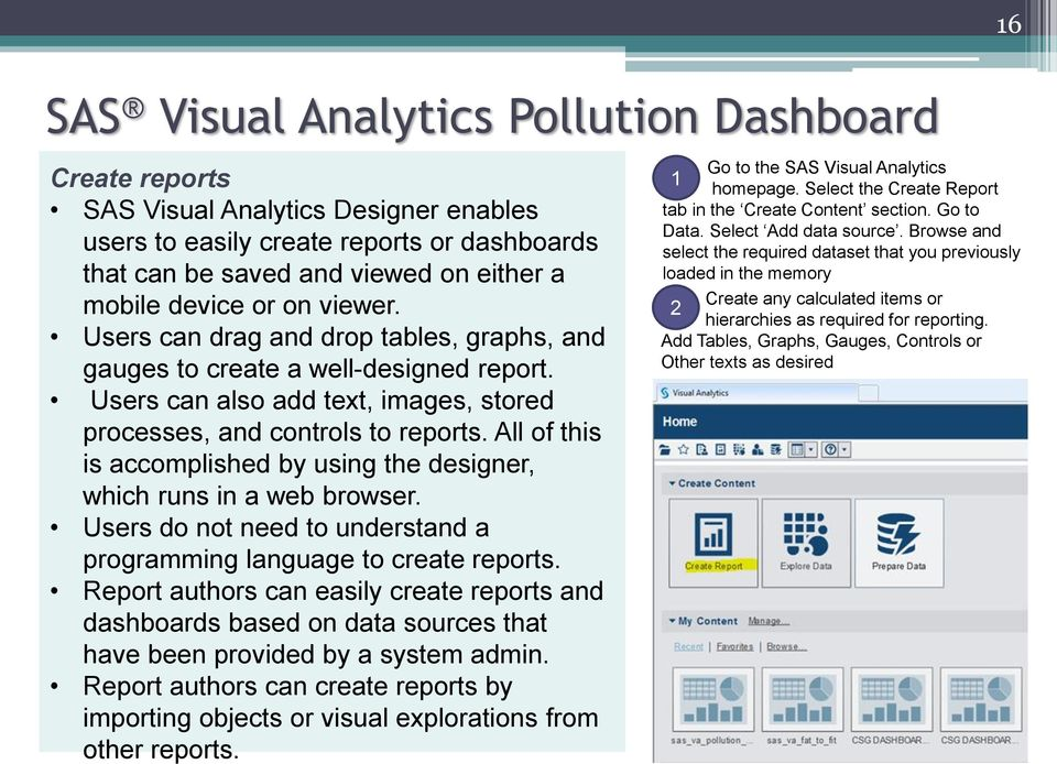 sas visual analytics dashboard for pollution analysis pdf rh docplayer net User Query Text Idea Real-Time Query