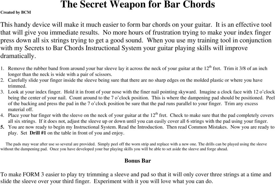 The Secret Weapon For Bar Chords Pdf