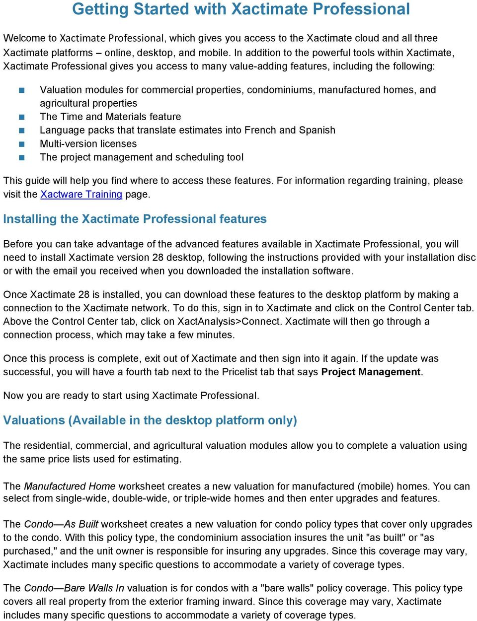 Getting Started with Xactimate Professional - PDF