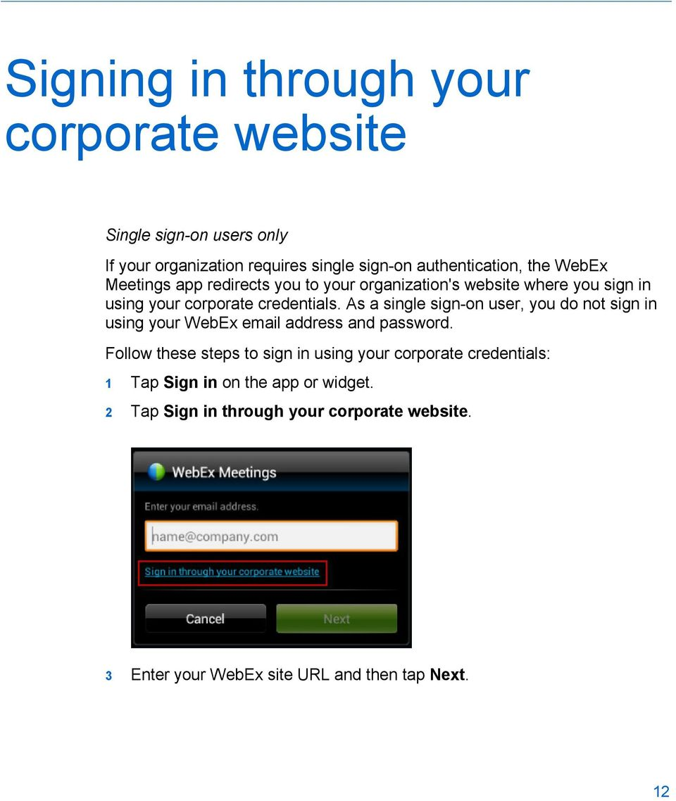 Cisco WebEx Meetings for Android - PDF