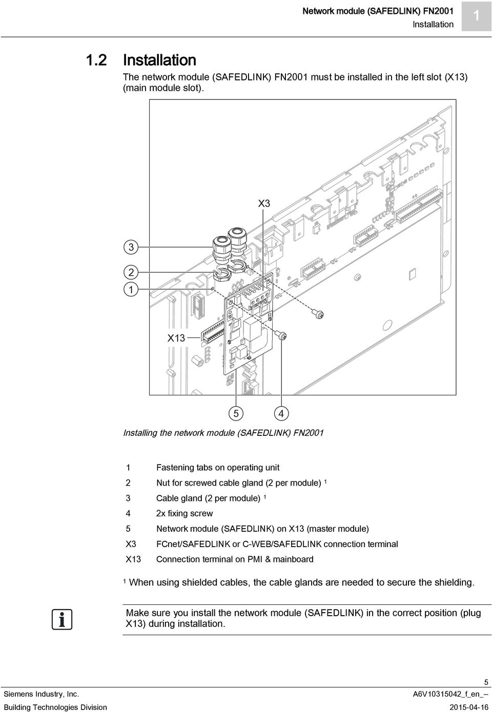 Fn2001 A1 Network Module Safedlink Mounting Installation Pdf Pmi Wiring Diagram On Master Fcnet Or C Web