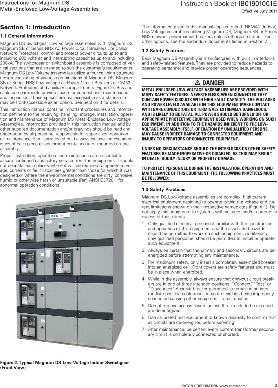 Instructions For Magnum Ds T Pdf Series Magnetic Lock Wiring To And Including 600 Volts Ac Interrupting Capacities Up 200ka 4