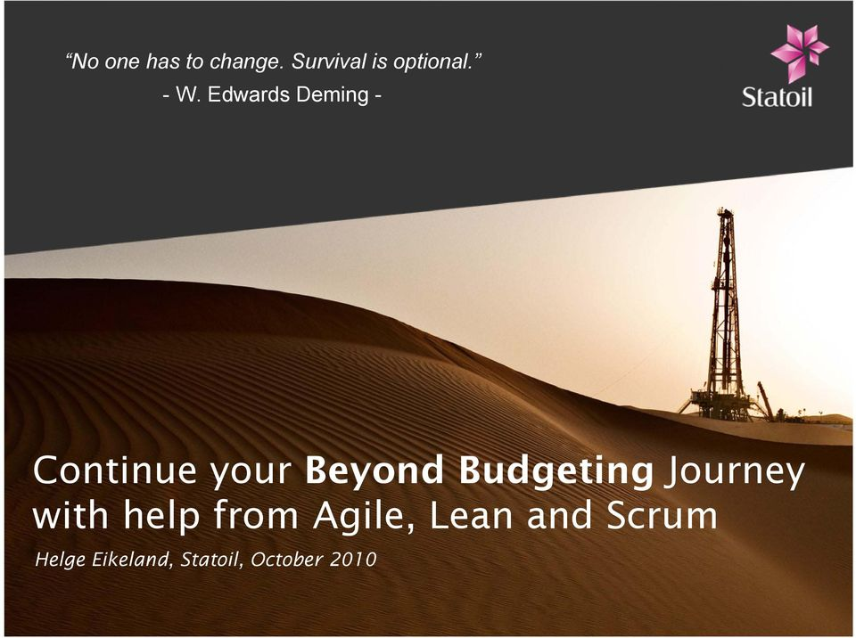 Budgeting Journey with help from Agile,