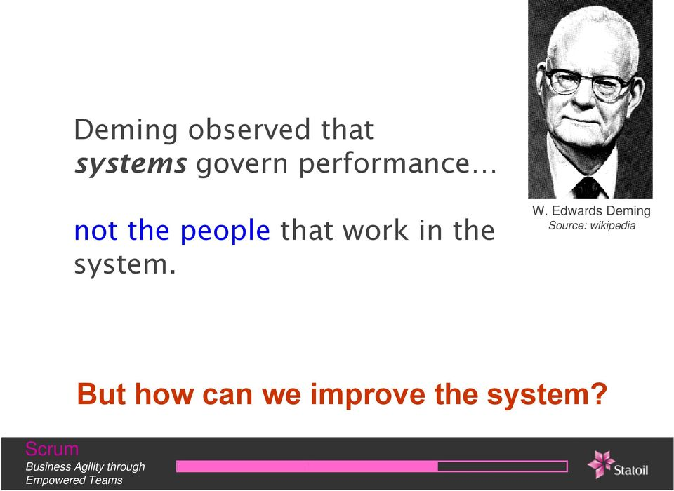 the system. W.