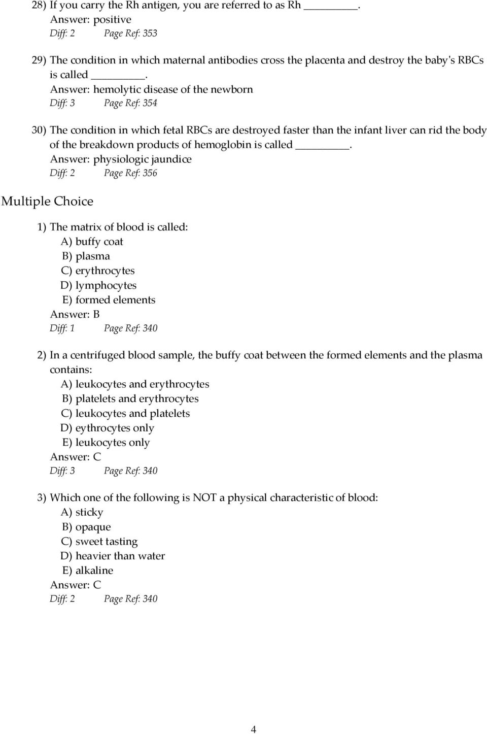 Essentials of Anatomy and Physiology, 9e (Marieb) Chapter 10 Blood ...