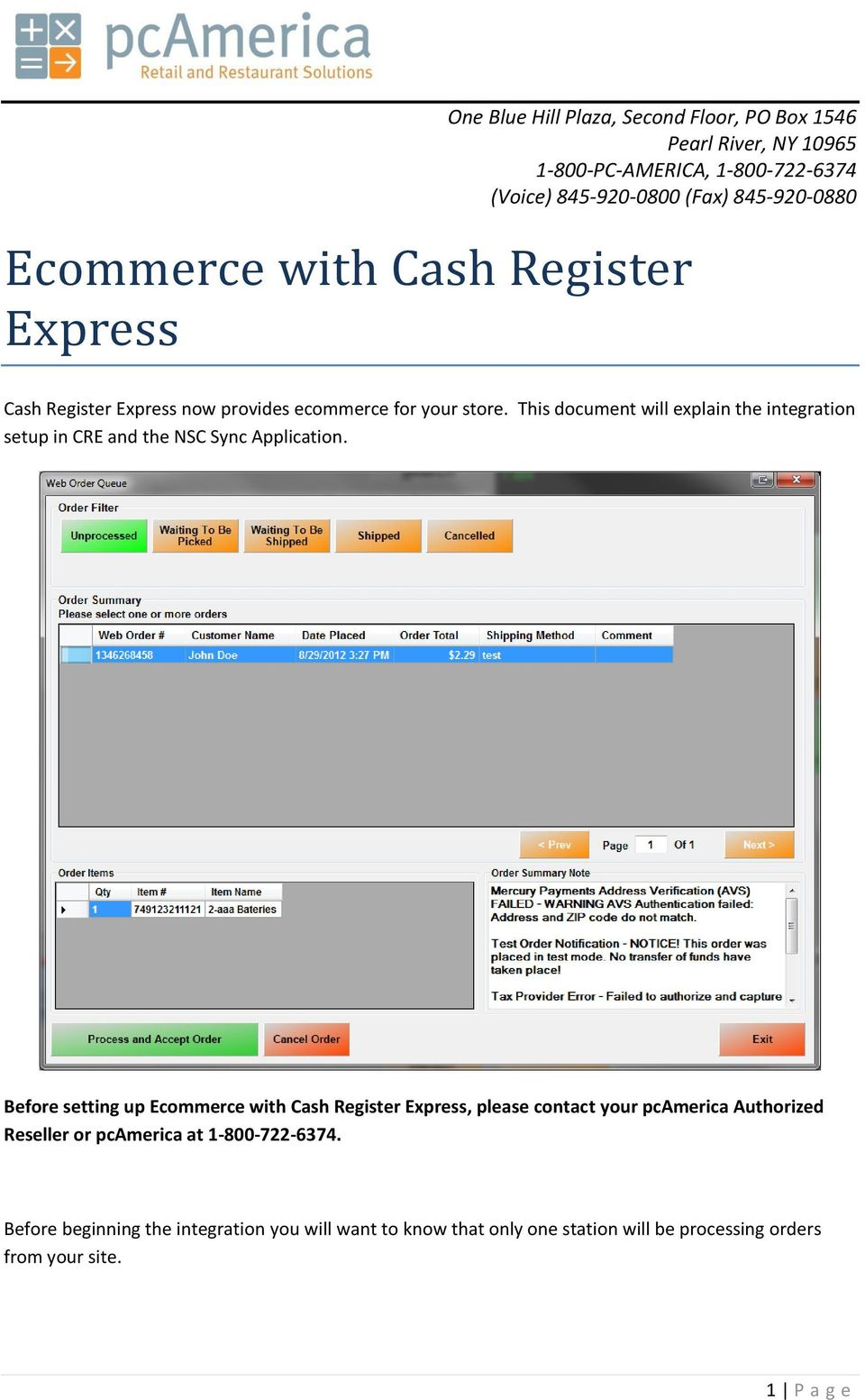 Ecommerce with Cash Register Express - PDF