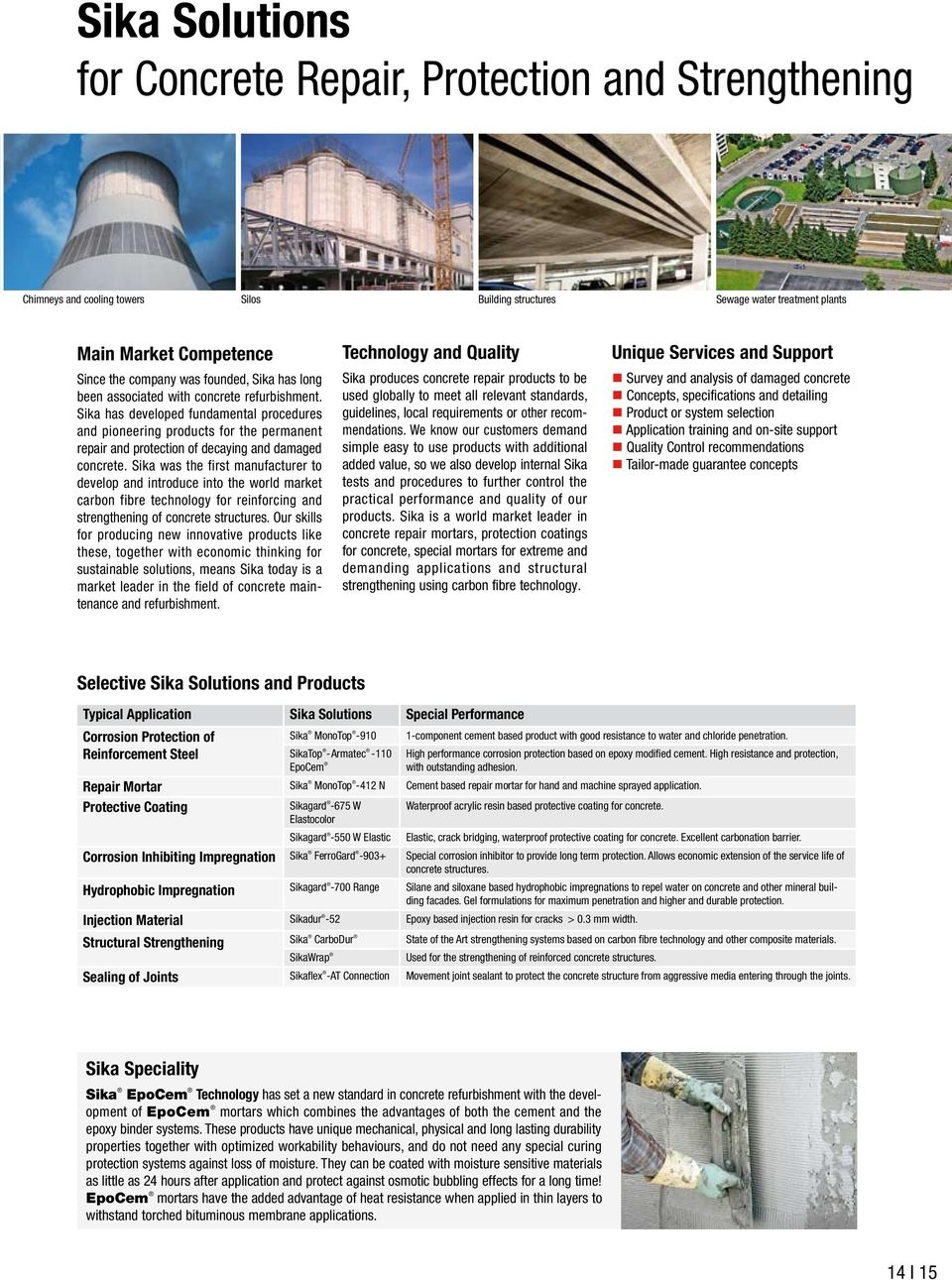 Sika Solutions for Construction  Innovation & Consistency  since PDF