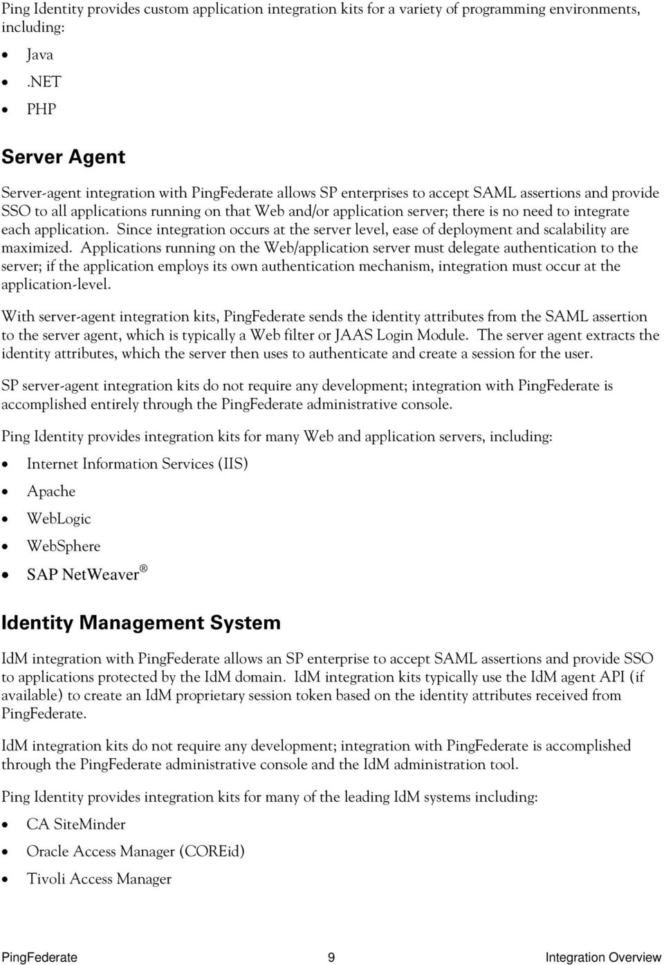 PingFederate  Integration Overview - PDF