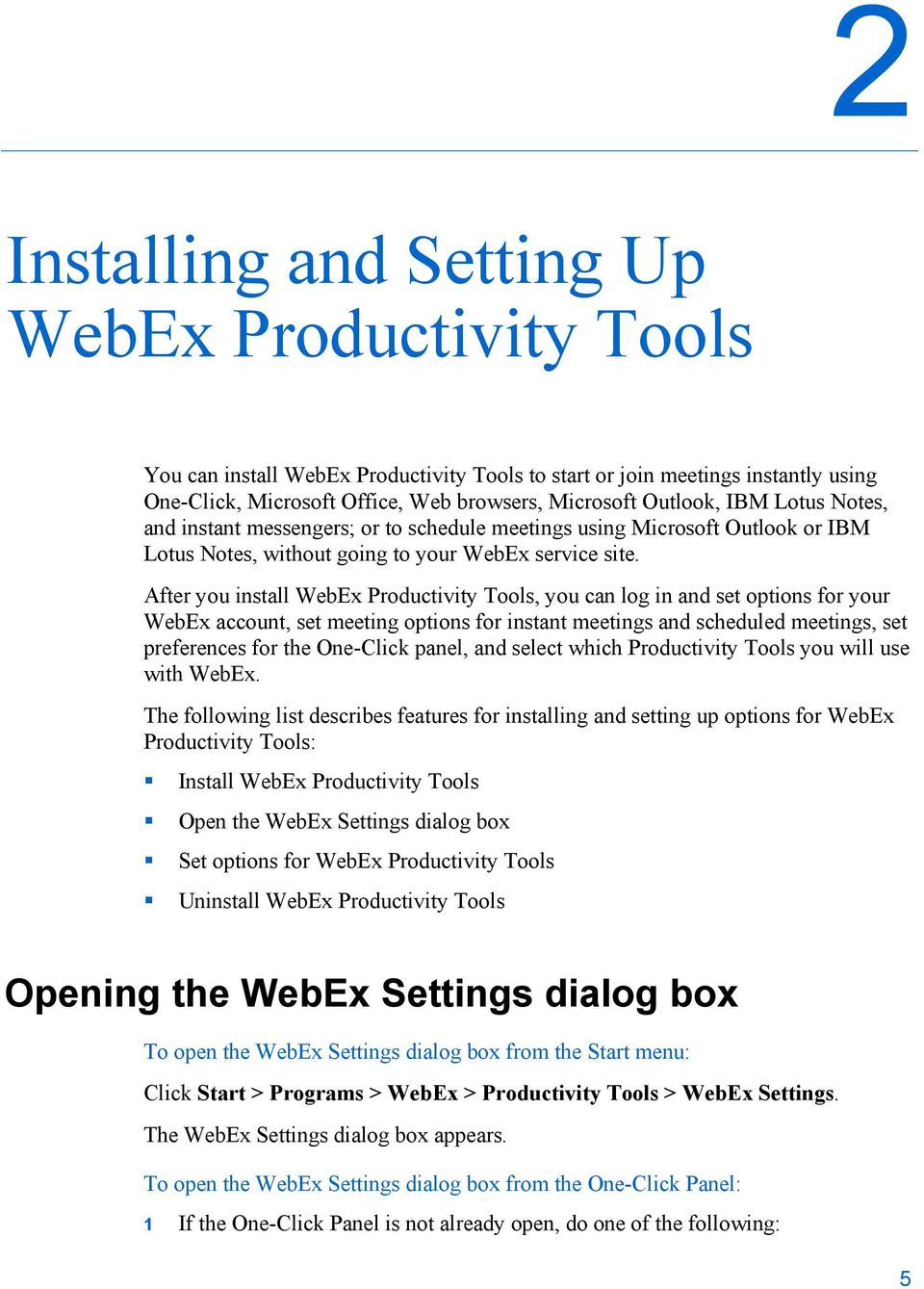 WebEx Integration to Lotus Notes  Users Guide - PDF
