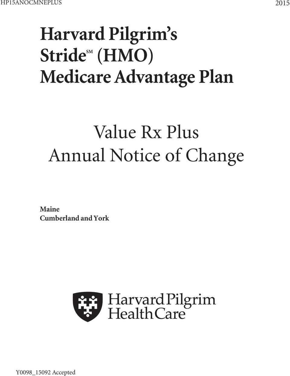 Value Rx Plus Annual Notice of Change