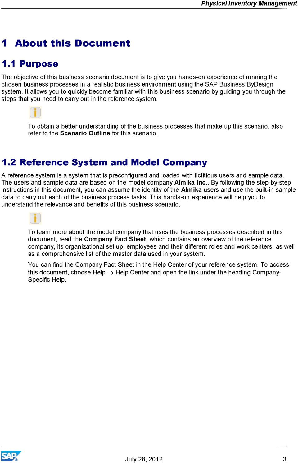 Physical Inventory Management  SAP Business ByDesign - PDF