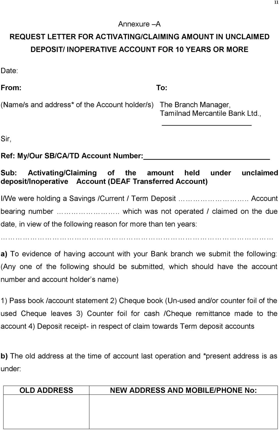 Policy on Unclaimed Deposits/Inoperative Accounts ] Version PDF