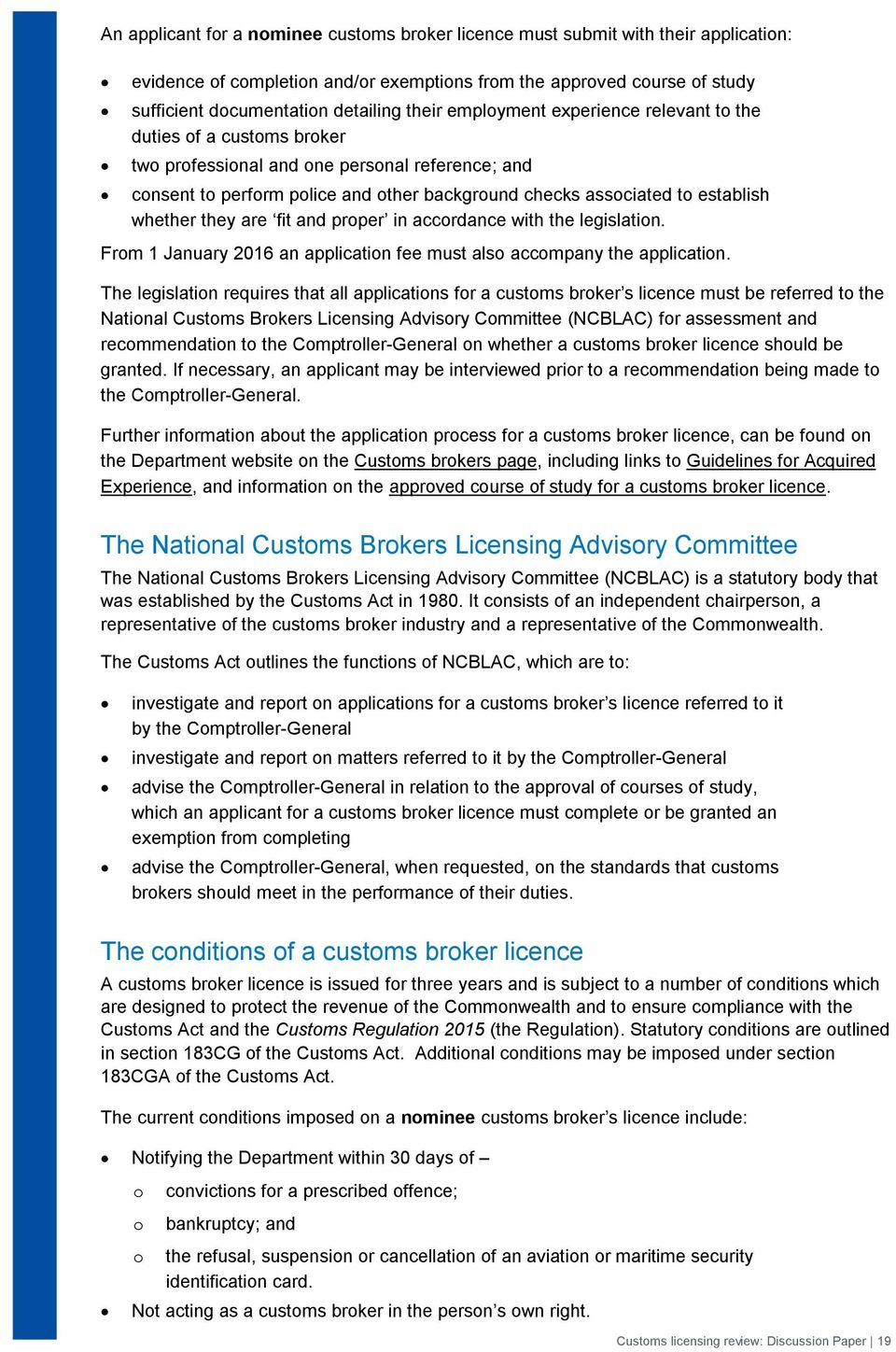 Review of customs licensing regimes - PDF