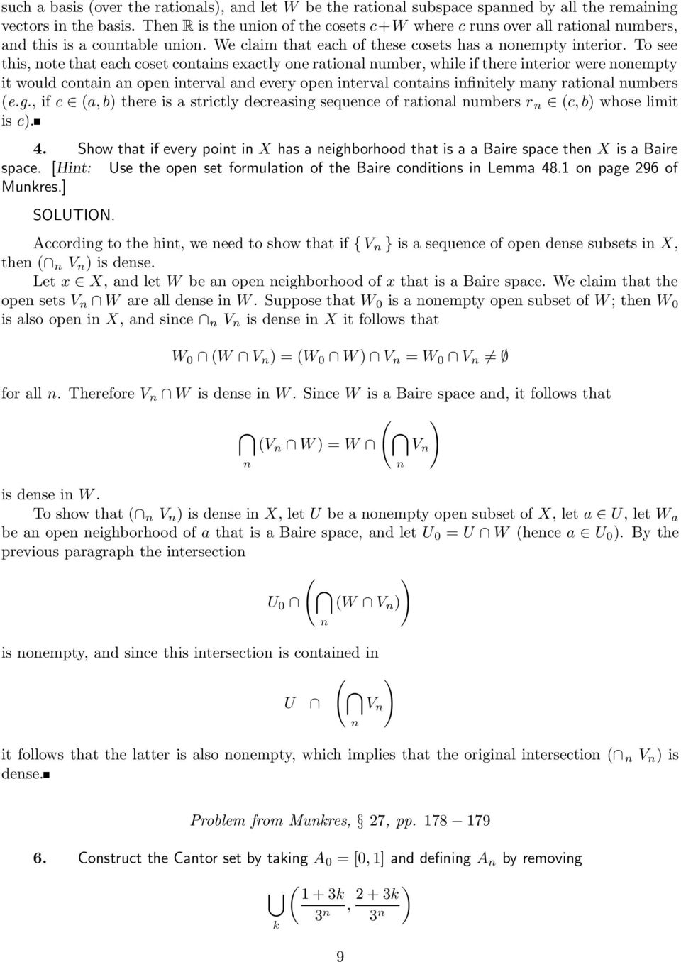 Solutions To Exercises For Mathematics 205a Part 3 Spaces With Special Properties Pdf Free Download
