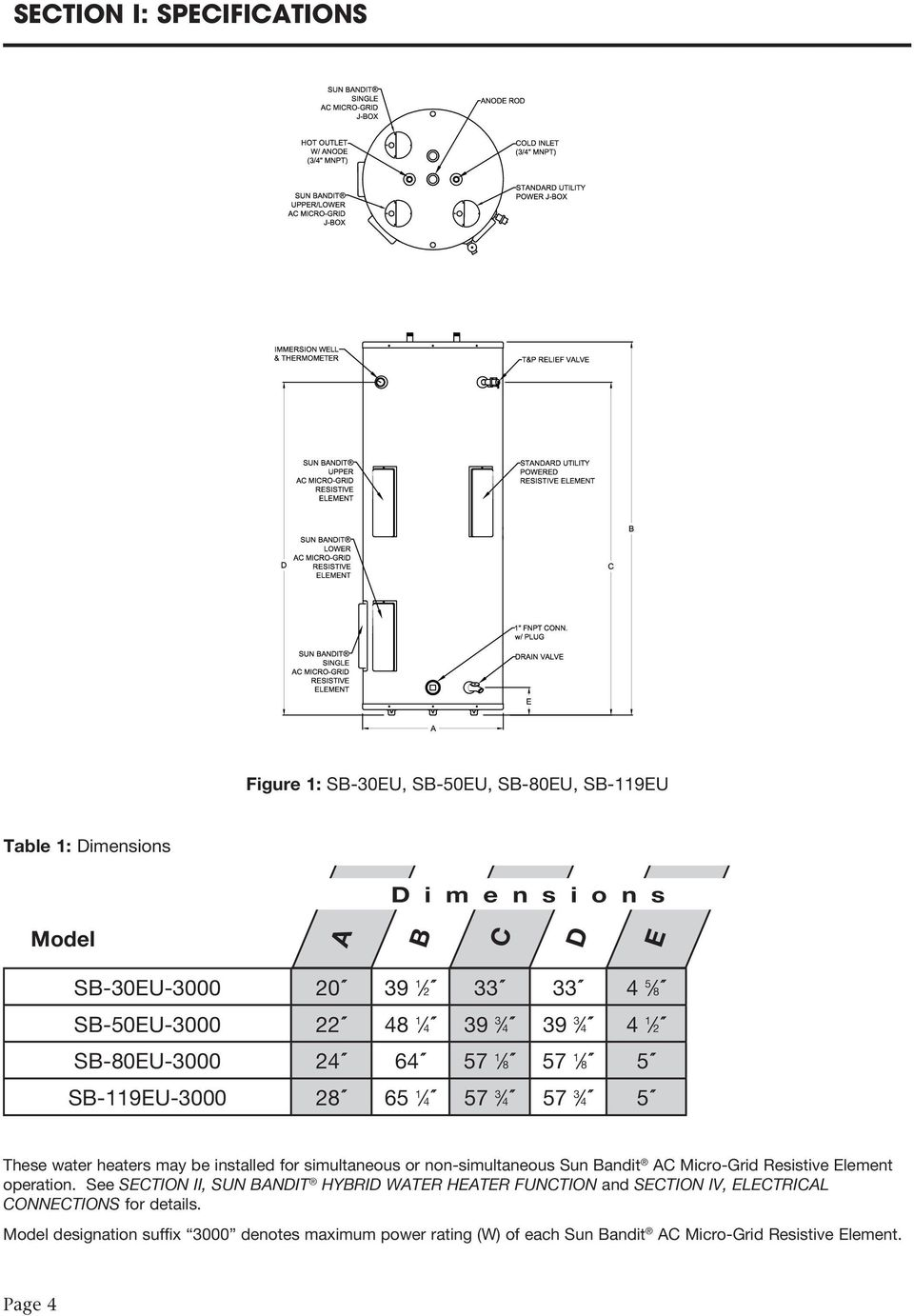 Sun Bandit Hybrid Water Heater Installation Operation And Solar 1 Touch Space Wiring Diagram For Simultaneous Or Non Ac Micro Grid Resistive Element