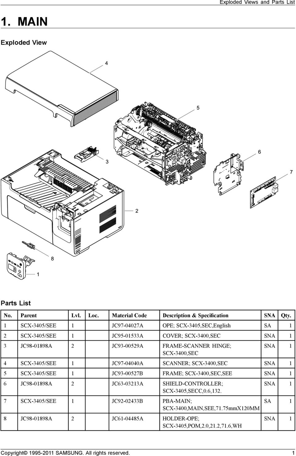 1 Main Exploded View Parts List Pdf Maytag Washer Diagram Group Picture Image By Tag Scx 3400secsee 6 Jc98 01898a 2 Jc63 03213a Shield