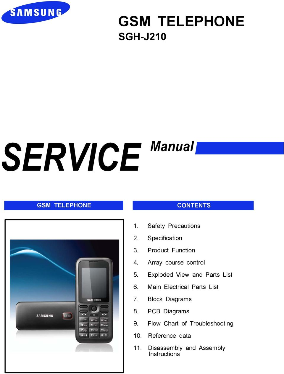 GSM TELEPHONE SGH-J210 GSM TELEPHONE CONTENTS  1  Safety Precautions