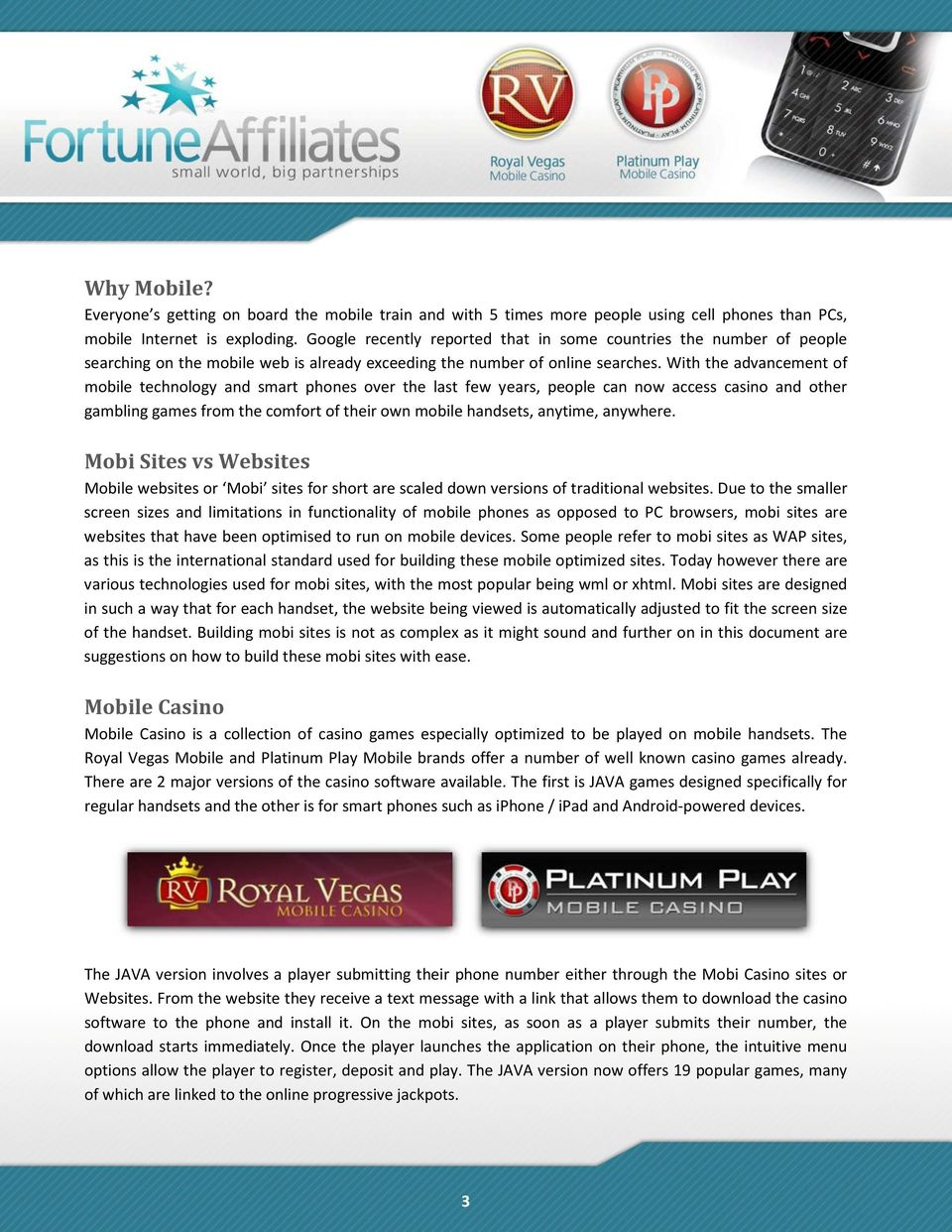 Mobile Casino Marketing Guide  The Time for Mobile is Now! - PDF