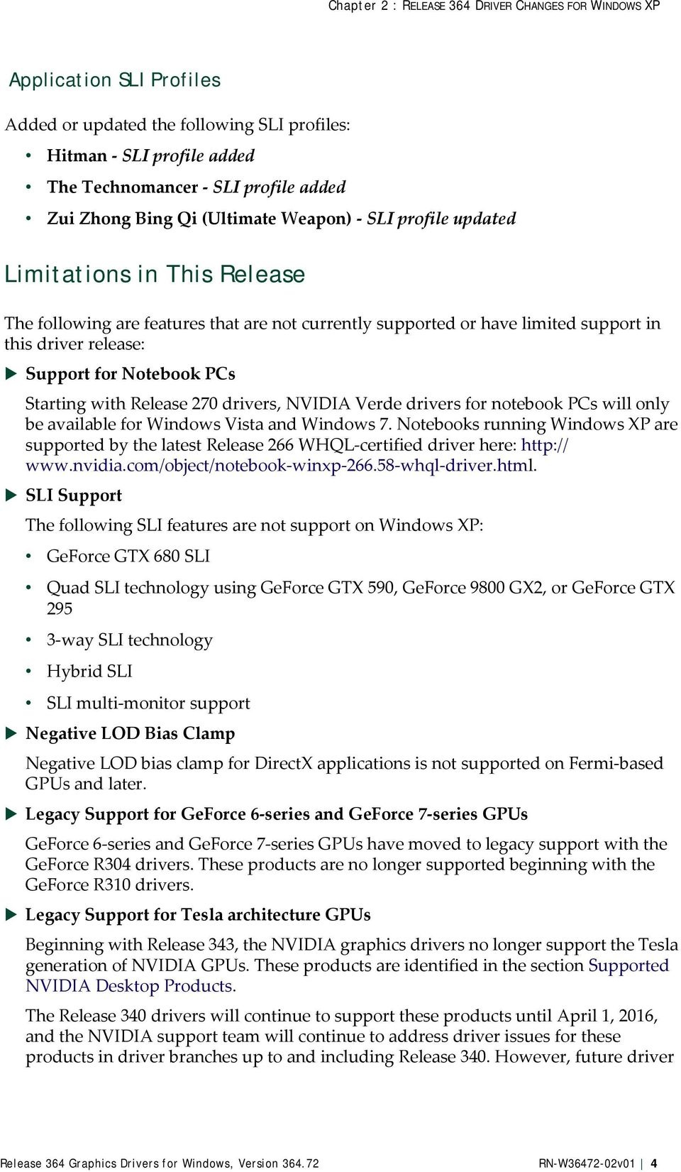 Release 364 Graphics Drivers for Windows, Version - PDF