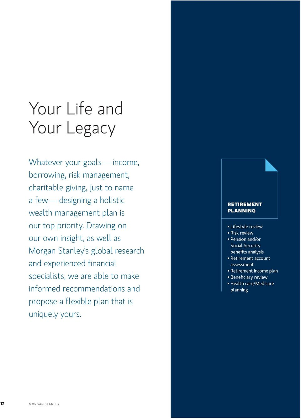 The Paladin Group at Morgan Stanley  Advocates for the
