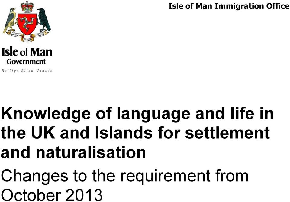 Islands for settlement and