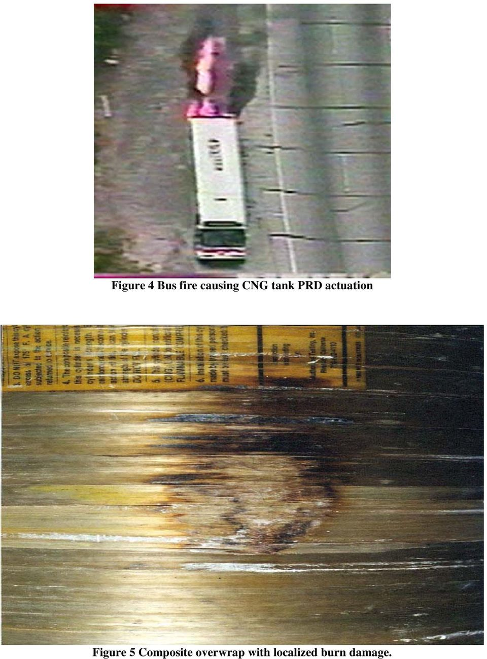 CNG and Hydrogen Vehicle Fuel Tank Failure Incidents