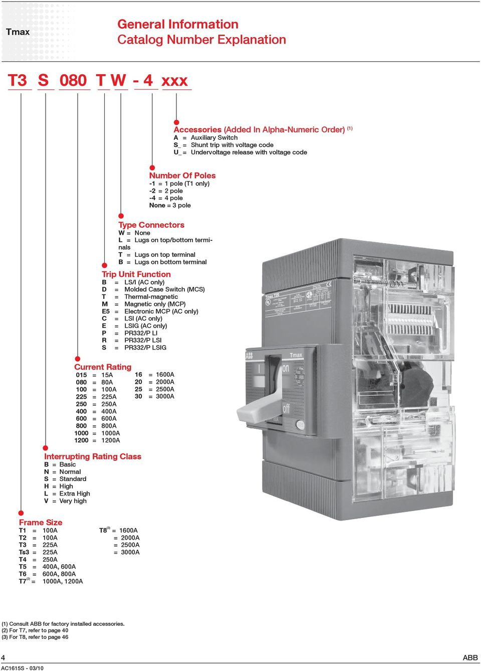 Product Selector  Tmax Molded Case Circuit Breakers - PDF