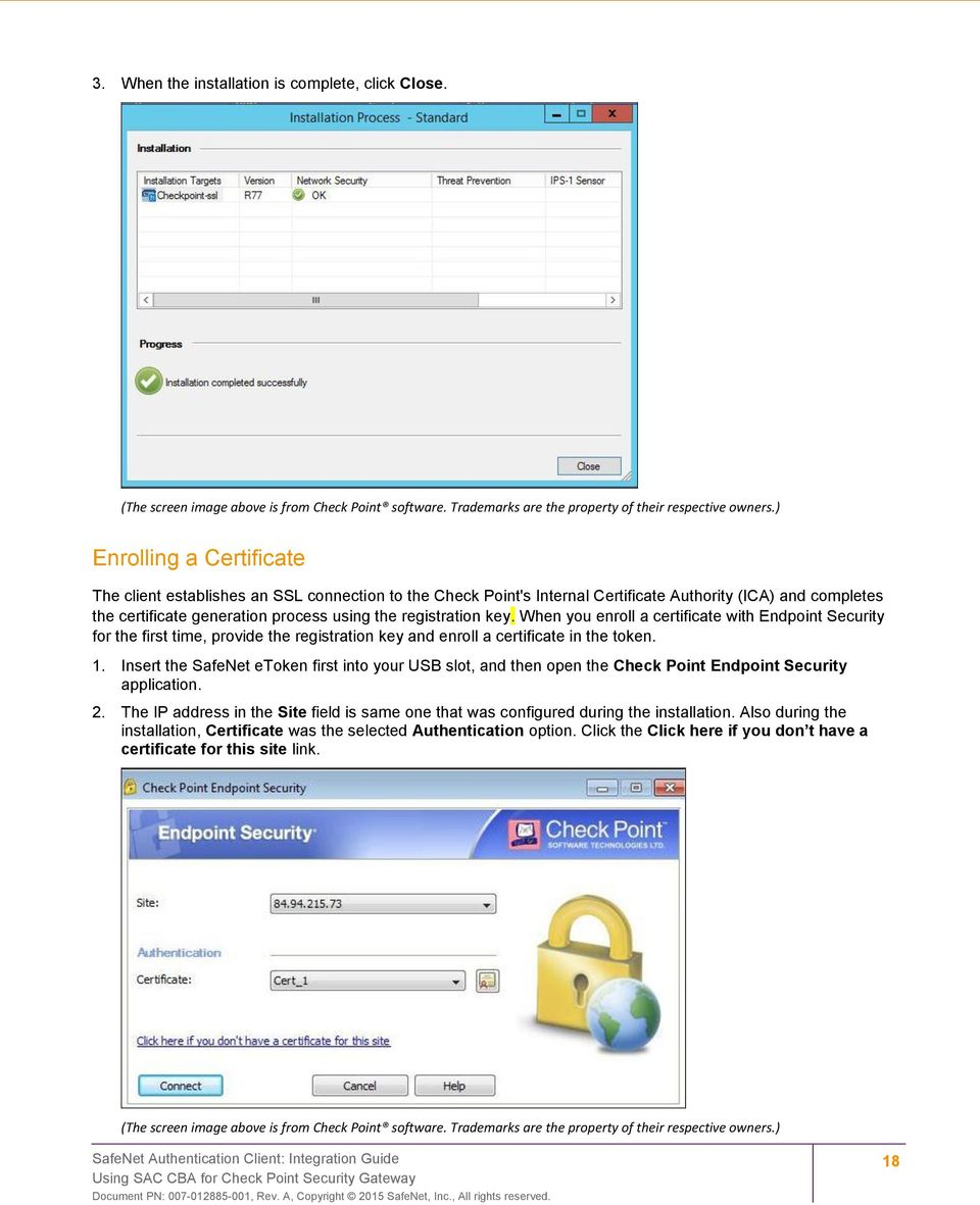 Integration Guide  SafeNet Authentication Client  Using SAC CBA for