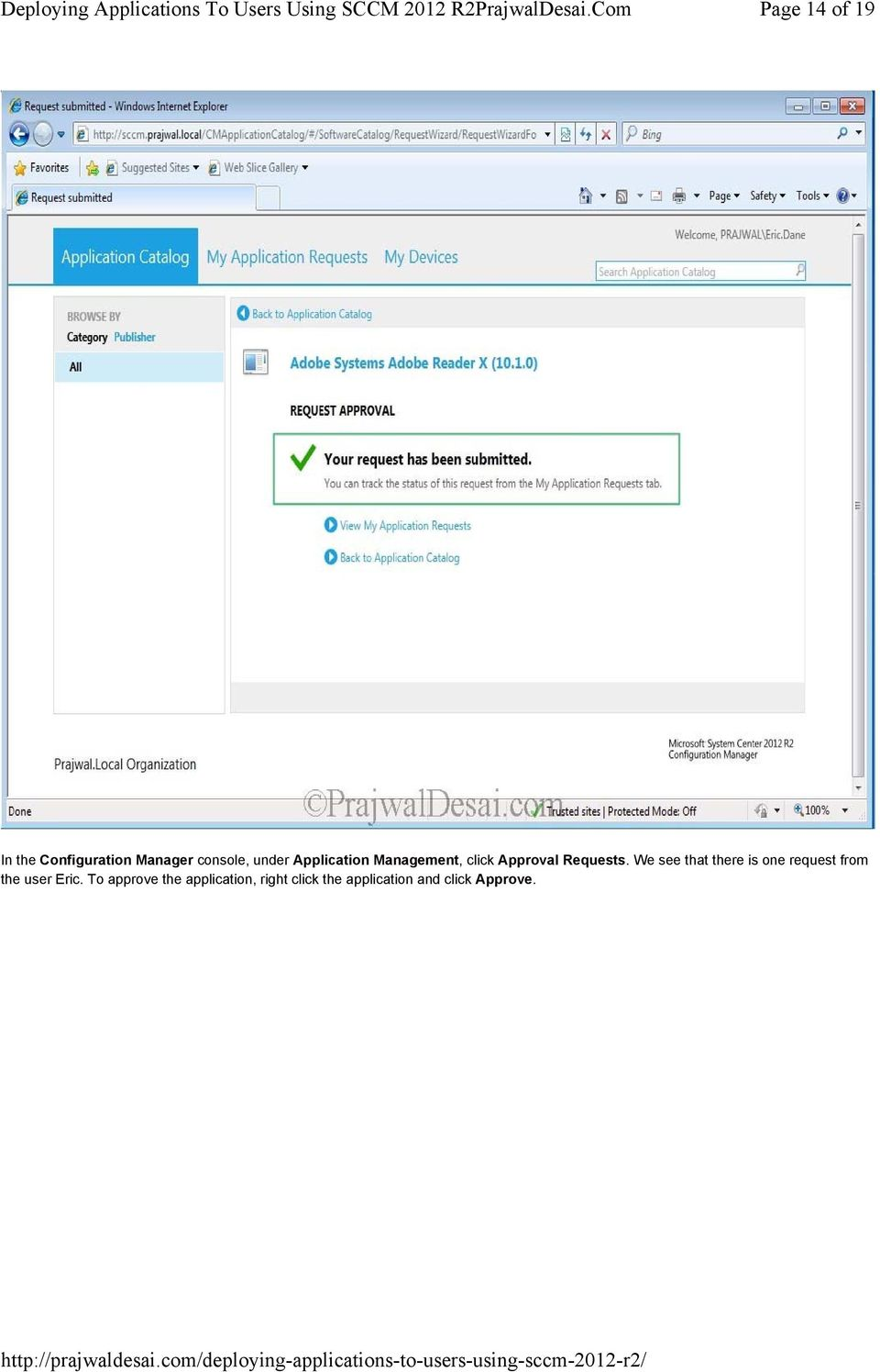 Deploying Applications To Users Using SCCM 2012 R2 - PDF