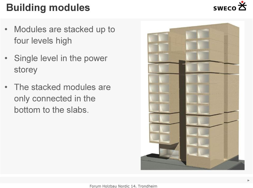 power storey The stacked modules are