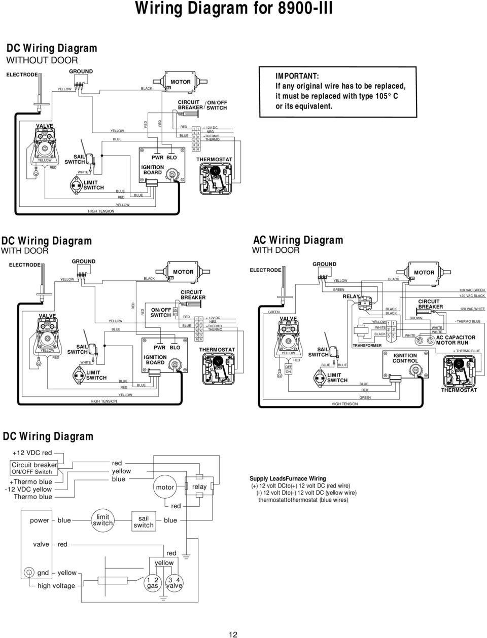 Atwood Service Department Introduction Pdf Fenwal Ignition Module Wiring Diagram Hvac Valve Yellow Blue Red 1 4 2 5 3 6