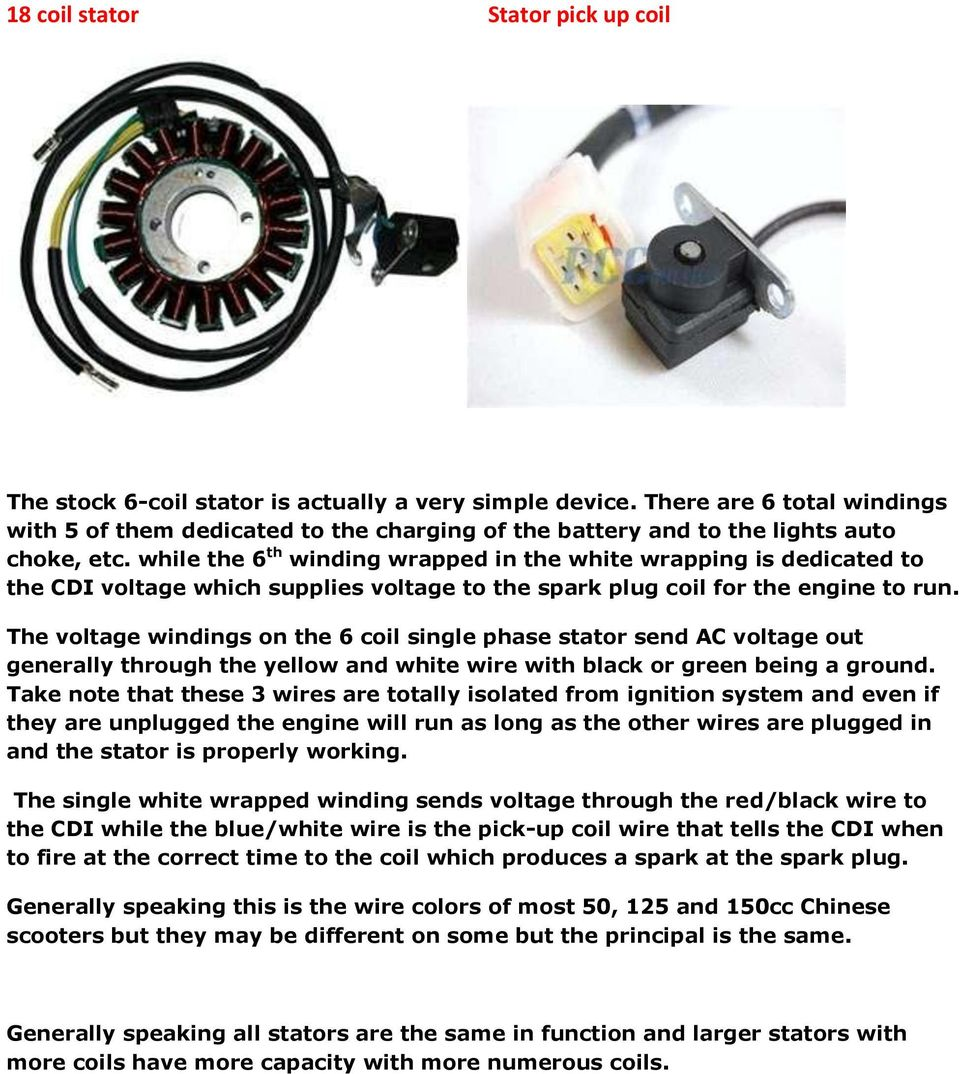 8 Coil Stator 11 Pdf Chinese Scooter Ignition Wiring Diagram While The 6 Th Winding Wrapped In White Wrapping Is Dedicated To Cdi Voltage