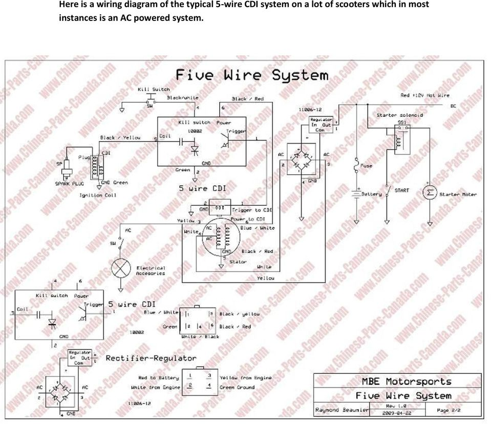 8 Coil Stator 11 Pdf 4 Wire Regulator Wiring Diagram For Scooter Lot Of Scooters Which In Most