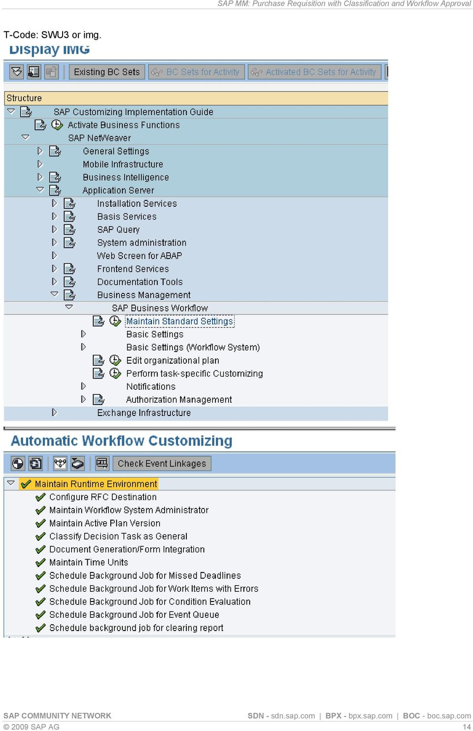 Sap Workflow Configuration