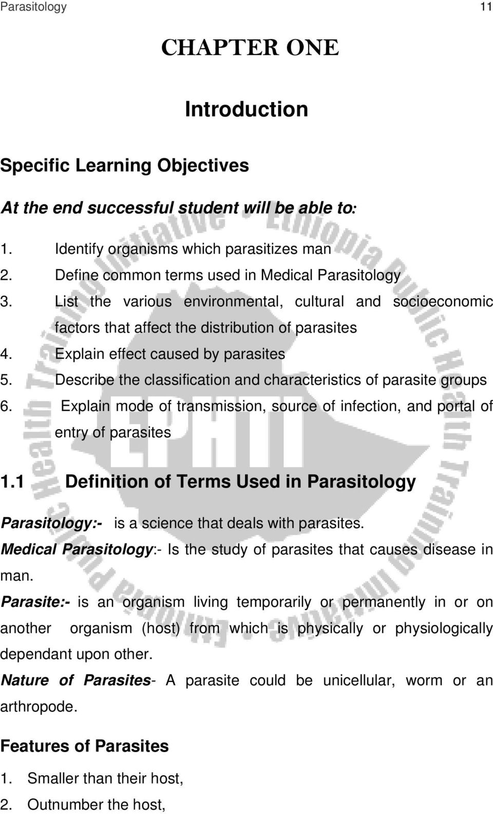 For Medical Laboratory Technology Students  Parasitology  Girma