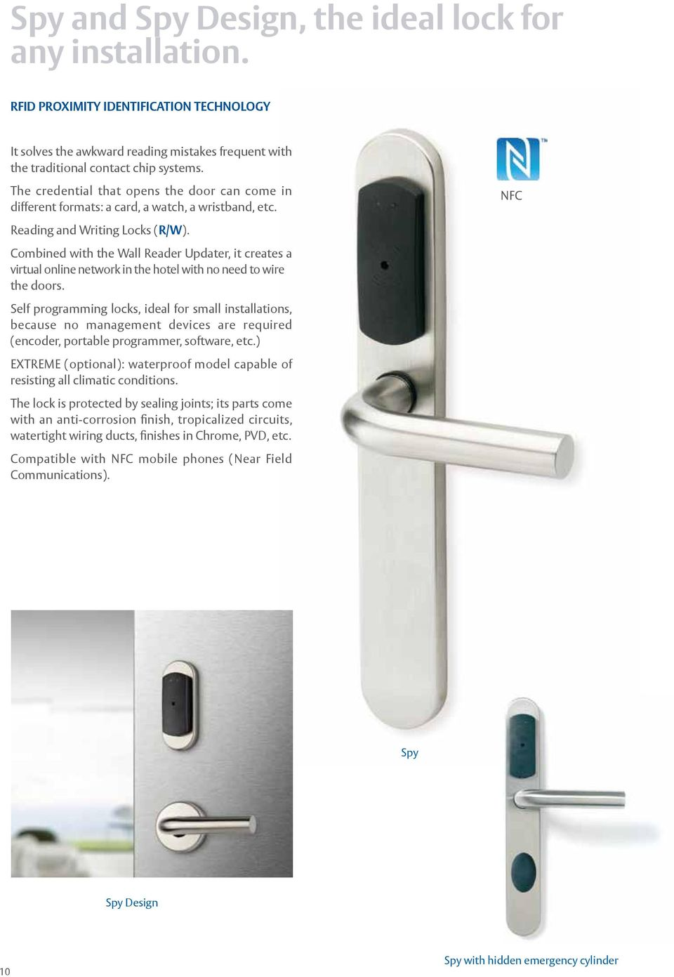 The only electronic locking system for hotels, halls of