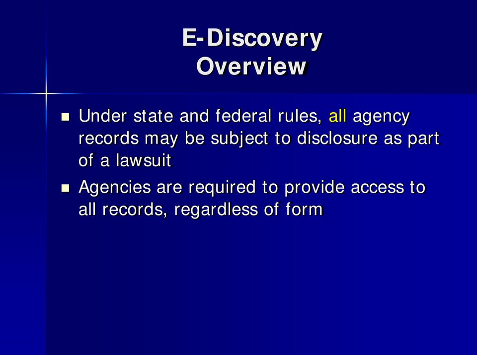 disclosure as part of a lawsuit Agencies are
