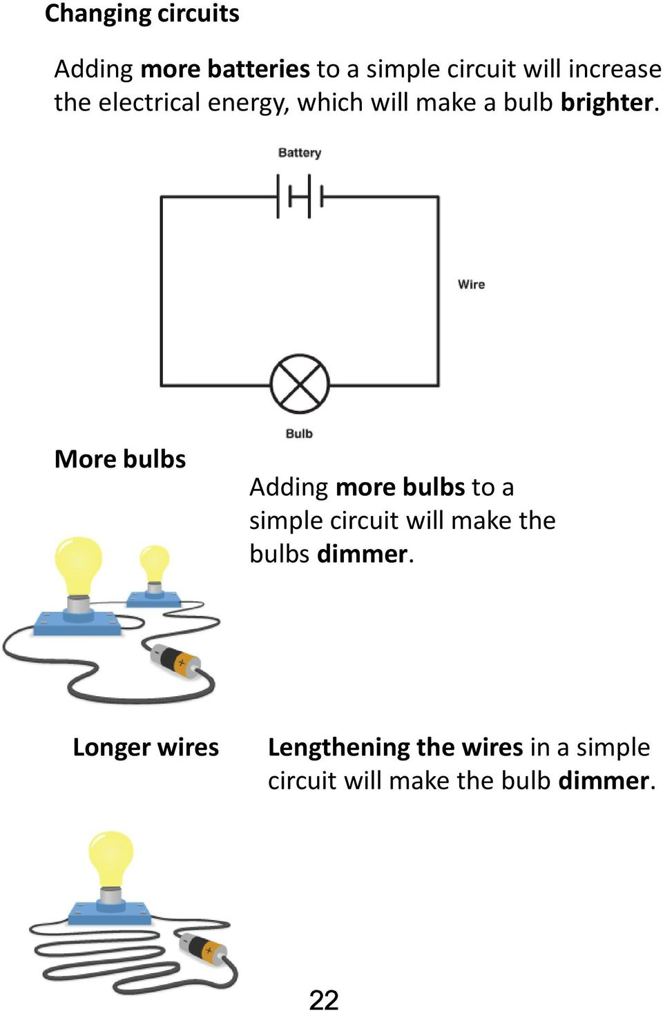 Electricity Unit Science And Technolgy Cycle 3 Name Group Teacher Compare The Circuits Series Circuit Parallel Dimmer Bulbs More Adding To A Simple Will Make