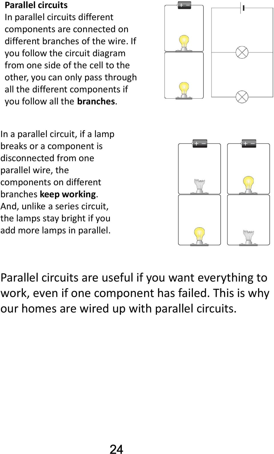 Electricity Unit Science And Technolgy Cycle 3 Name Group Teacher Compare The Circuits Series Circuit Parallel Dimmer Bulbs In A If Lamp Breaks Or Component Is Disconnected From One