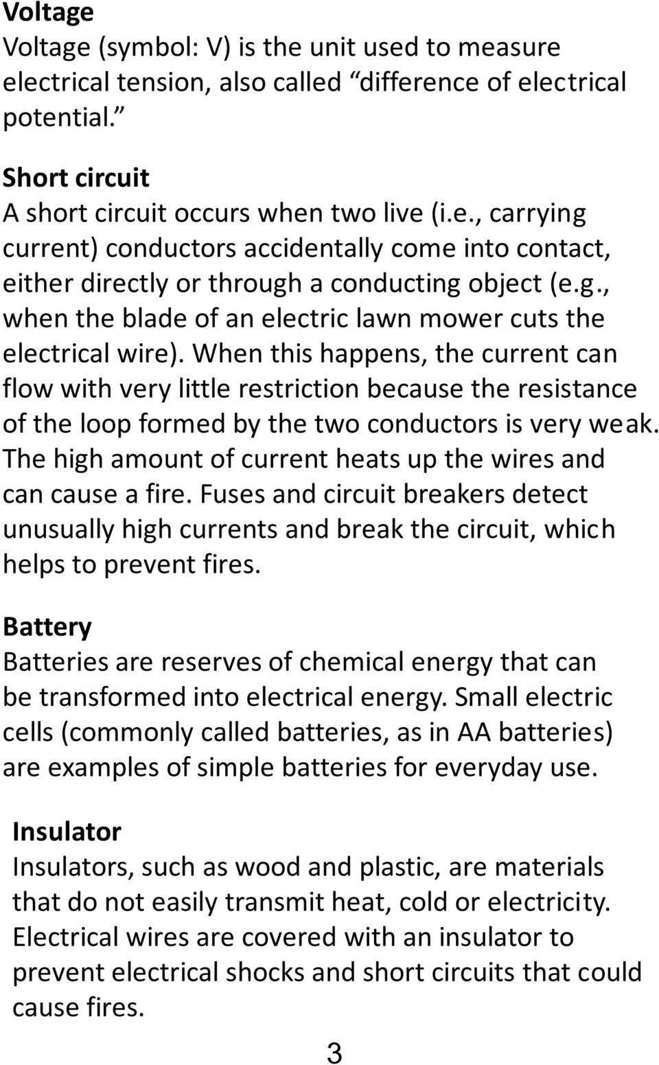 Electricity Unit Science And Technolgy Cycle 3 Name Group Teacher Cold Circuit When This Happens The Current Can Flow With Very Little Restriction Because Resistance Of