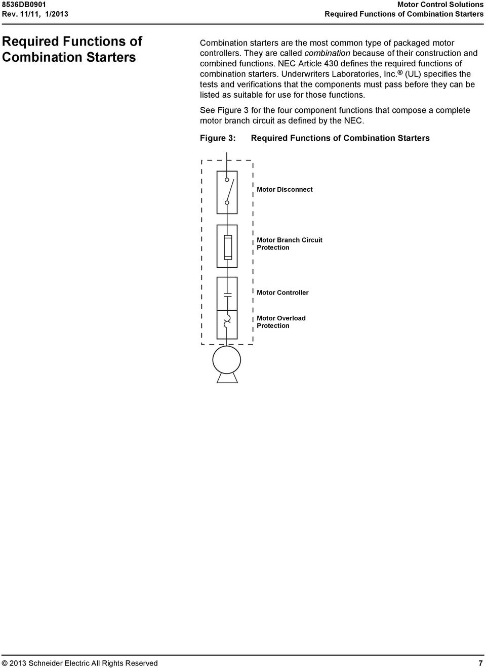 Motor Control Solutions For The North American Market Pdf Overload Relay Wiring Diagrams They Are Called Combination Because Of Their Construction And Combined Functions Nec Article 430 Defines
