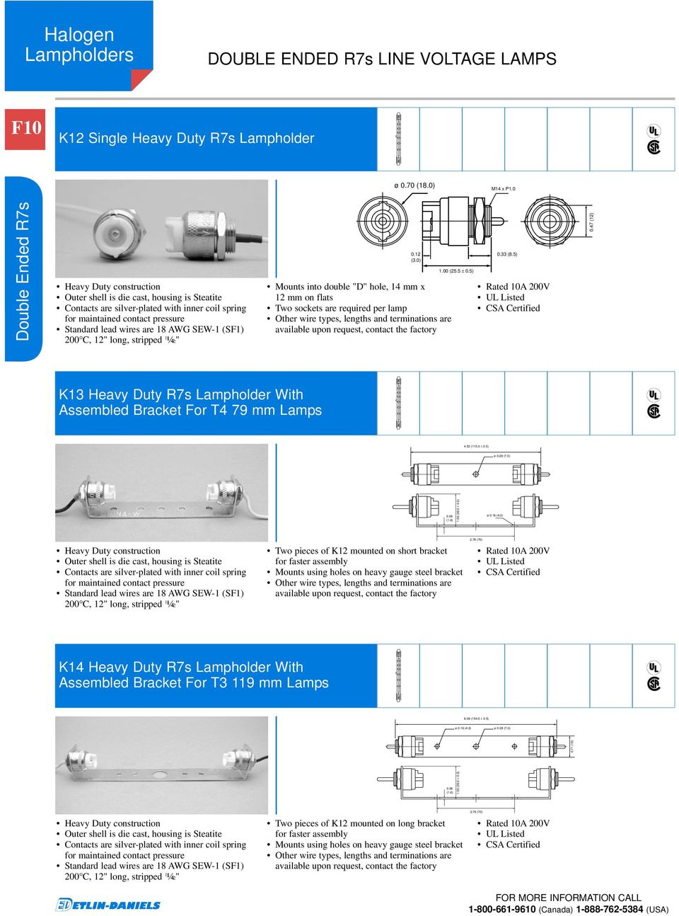 Section F Halogen Lampholders Wilson Avenue Lamp Wiring Diagram Two Sockets 0 Mounts Into Double D Hole 14 Mm X 12 On