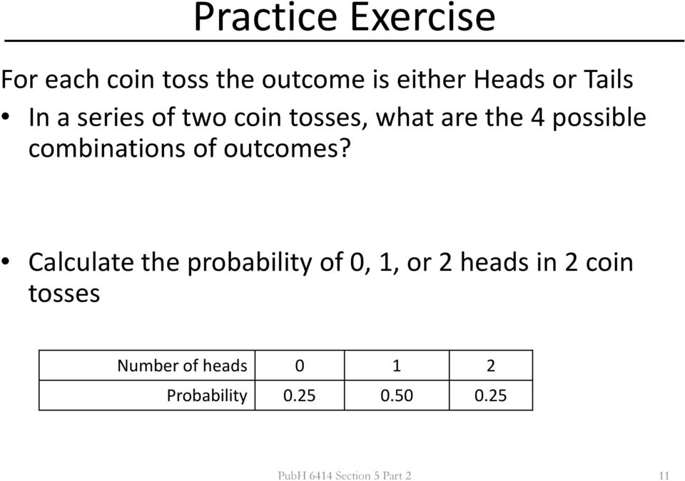 Section 5 Part 2  Probability Distributions for Discrete