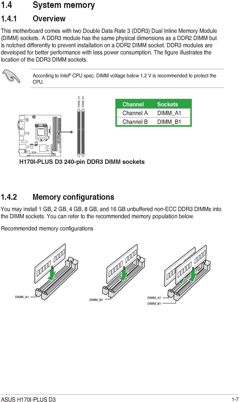 H170i Plus D3 Motherboard Pdf Compaq Hp Oem P4sd Front Panel Wiring Diagram Ddr3 Modules Are Developed For Better Performance With Less Power Consumption The Figure Illustrates