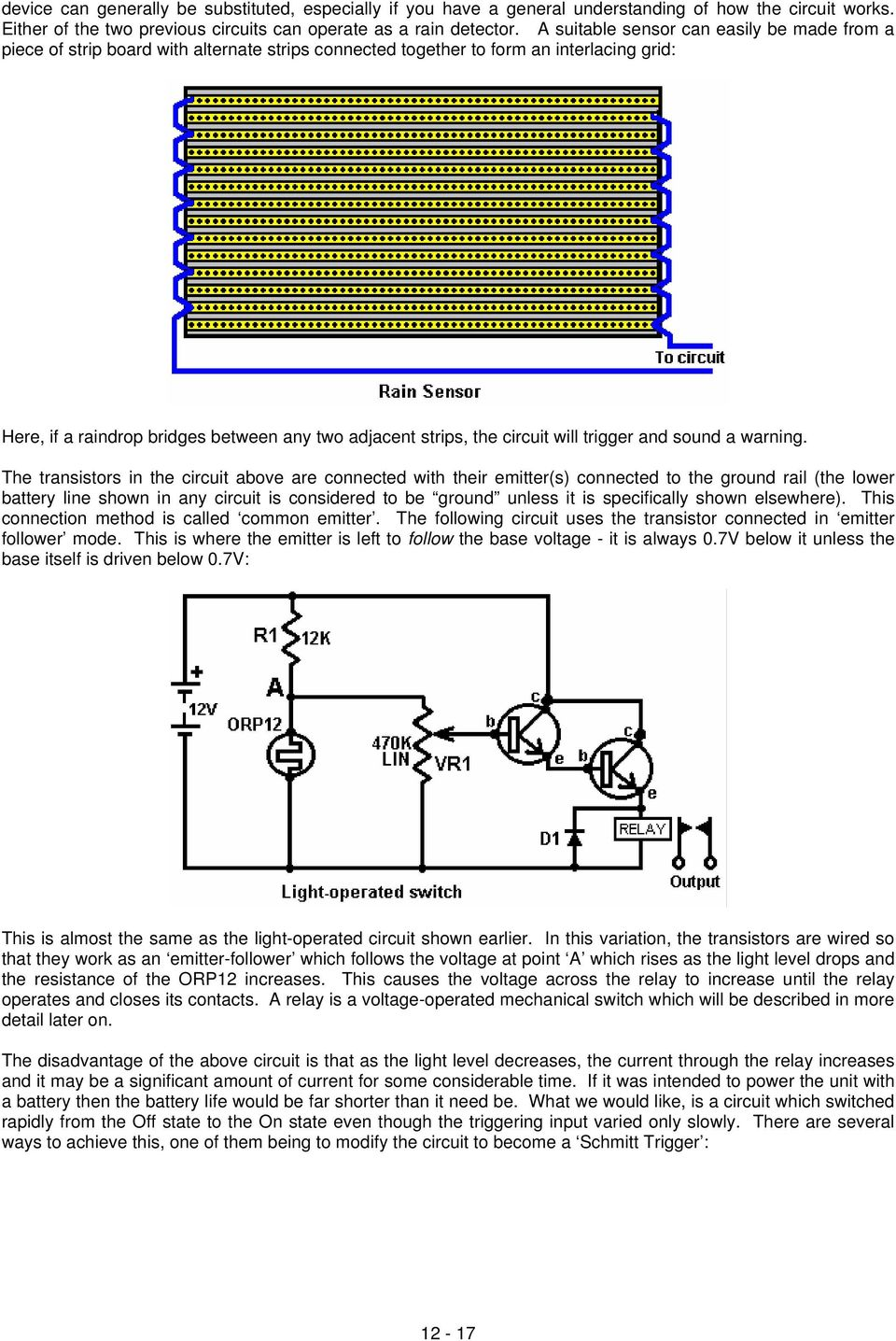 Chapter 12 Basic Electronics Pdf Light Operated Switch Circuit Will Trigger And Sound A Warning