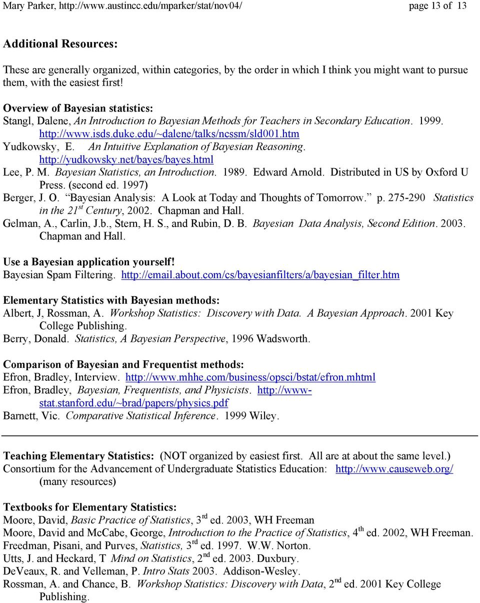 Foundations of Statistics Frequentist and Bayesian - PDF